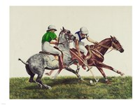 Polo - two horses Fine Art Print