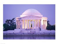 Jefferson Memorial at dusk, Washington, D.C., USA Fine Art Print