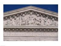 Pedimental frieze on the U.S. Supreme Court building, Washington, D.C., USA - various sizes