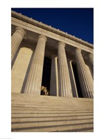 Facade of the Lincoln Memorial, Washington, D.C., USA Fine Art Print