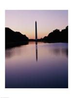 Silhouette of the Washington Monument, Washington, D.C., USA - various sizes, FulcrumGallery.com brand