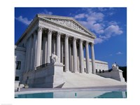 Facade of the U.S. Supreme Court, Washington, D.C., USA Fine Art Print
