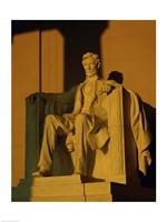 Low angle view of a statue, Lincoln Memorial, Washington DC, USA Fine Art Print