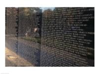 Text on a memorial wall, Vietnam Veterans Memorial Wall, Vietnam Veterans Memorial, Washington DC, USA Fine Art Print