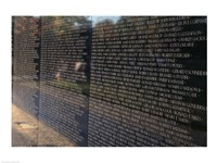Text on a memorial wall, Vietnam Veterans Memorial Wall, Vietnam Veterans Memorial, Washington DC, USA Framed Print