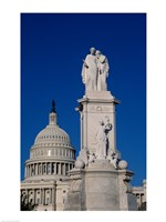 Monument in front of a government building, Peace Monument, State Capitol Building, Washington DC, USA Fine Art Print