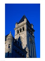 Low angle view of a post office, Old Post Office Building, Washington DC, USA - various sizes