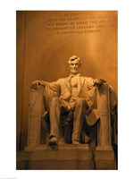 USA, Washington DC, Lincoln Memorial Fine Art Print