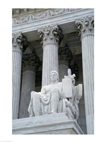 Statue at a government building, US Supreme Court Building, Washington DC, USA - various sizes, FulcrumGallery.com brand