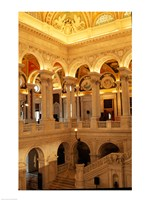 USA, Washington DC, Library of Congress interior Fine Art Print