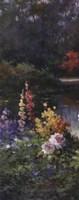 "Summer Garden Triptych by T.C. Chiu - 8"" x 20"""