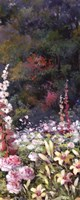 "Summer Garden Triptych 2 by T.C. Chiu - 8"" x 20"""