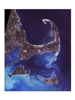 Cape Cod - from space Framed Print