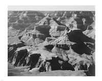 View of rock formations, Grand Canyon National Park,  Arizona, 1933 Framed Print
