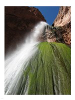 Lower Ribbon Falls off the North Kaibab Trail in the Grand Canyon - various sizes