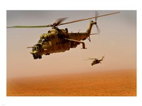 Afghan Air Corps Mi-35 helicopters - various sizes