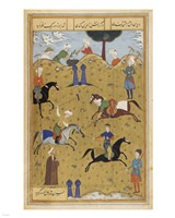 Polo game from poem Guy Chawgan Fine Art Print