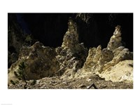 Rock formations at a canyon, Grand Canyon of the Yellowstone, Yellowstone River, Yellowstone National Park, Wyoming, USA - various sizes
