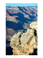 Rock Close-Up at the Grand Canyon Framed Print