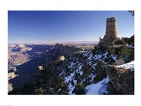 Ruin of an old building on a cliff, Grand Canyon National Park, Arizona, USA - various sizes