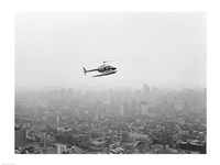 USA, New York State, New York City, Helicopter over city - various sizes
