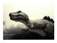 Close-up of a Tyrannosaurus Rex - various sizes