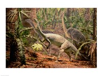 Anchisaurus Dinosaur State Park Connecticut, USA - various sizes