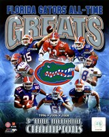University of Florida Gators All Time Greats Composite Framed Print