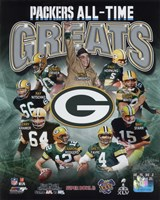 Green Bay Packers All Time Greats Composite Framed Print