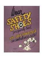 Safety Shoes Fine Art Print