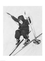 Boy skiing on snow - various sizes