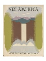 See America Visit the National Parks - various sizes, FulcrumGallery.com brand