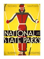 National and state parks, skiing, skating, sliding, sleighing Fine Art Print