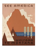 See America Welcome to Montana Fine Art Print