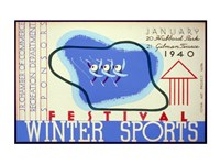 Winter sports festival, Jr. Chamber of Commerce - various sizes