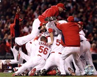 The St. Louis Cardinals Celebrate Winning World Series in Game 7 of the 2011 World Series (Celebration #2) Fine Art Print