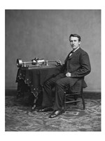 Edison and phonograph Fine Art Print