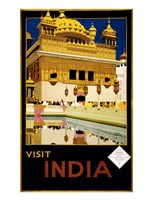 Visit India, travel poster, 1935 Fine Art Print