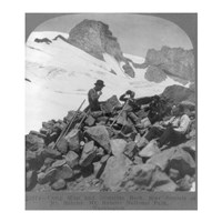 Washington - Mount Rainier Toiling up a snowfield Fine Art Print