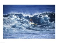 Man Surfing off of the Coast of Hawaii - various sizes