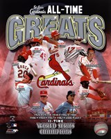 St. Louis Cardinals All Time Greats Composite Framed Print
