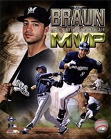 Ryan Braun 2011 NL MVP Portrait Plus Fine Art Print