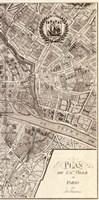 Plan de la Ville de Paris, 1715 (R) Fine Art Print