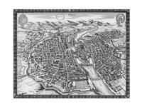 "16"" x 12"" City Map Art"