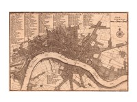 Nicolas de fer 1700 London Fine Art Print