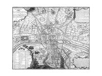 Plan de Paris - black and white Fine Art Print
