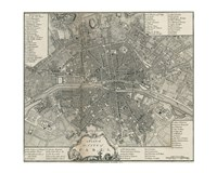 Plan Paris Stockdale Fine Art Print