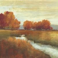 Orange Treescape - Mini Fine Art Print