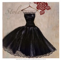 "Style - mini - Black Dress by Aimee Wilson - 13"" x 13"""