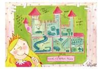 """Inside My Princess Palace by Helen Doodle - 17"""" x 12"""""""